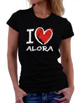 I love Alora chalk style Women T-Shirt