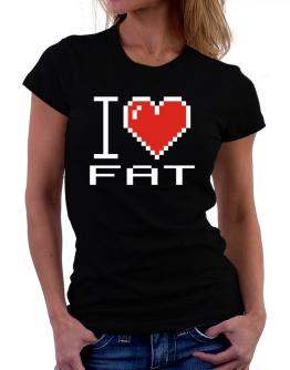 Polo de Dama de I love Fat pixelated