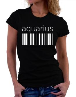 Aquarius barcode Women T-Shirt