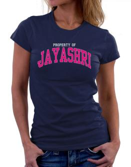 Property Of Jayashri Women T-Shirt