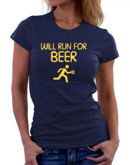 Will Run For Beer Women T-Shirt