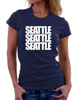 Seattle three words Women T-Shirt