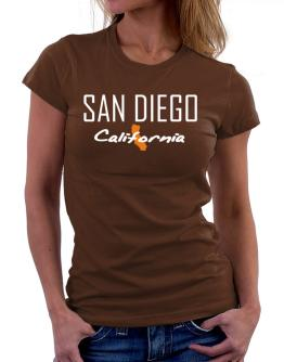 """ San Diego - State Map "" Women T-Shirt"