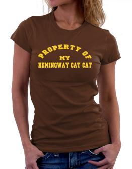 Property Of My Hemingway Cat Women T-Shirt