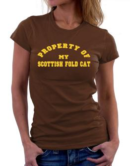 Property Of My Scottish Fold Women T-Shirt