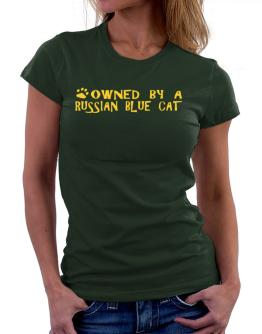 Owned By A Russian Blue Women T-Shirt