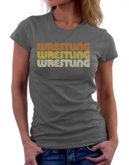 Wrestling Retro Color Women T-Shirt