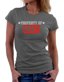 """ Property of Clem "" Women T-Shirt"