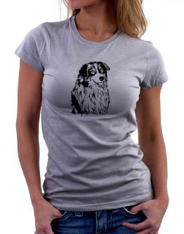 Australian Shepherd Face Special Graphic Women T-Shirt