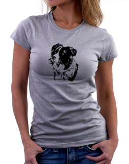 Border Collie Face Special Graphic Women T-Shirt