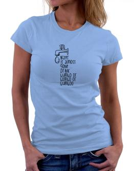 Water is almost gone drink Bumbo or Bombo or Bumboo 2 Women T-Shirt