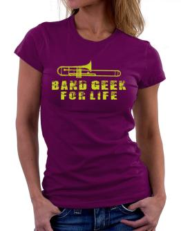 Polo de Dama de Band geek for life