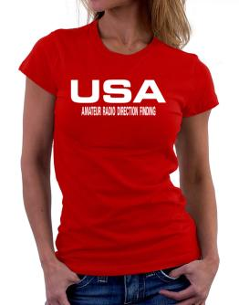 Usa Amateur Radio Direction Finding / Athletic America Women T-Shirt