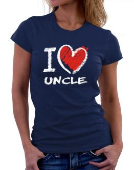 I love Auncle chalk style Women T-Shirt