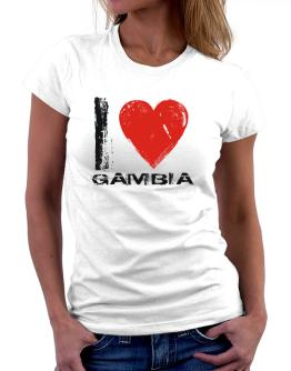 I Love Gambia - Vintage Women T-Shirt