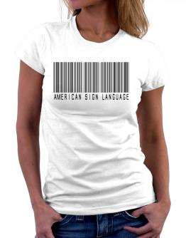 American Sign Language Barcode Women T-Shirt