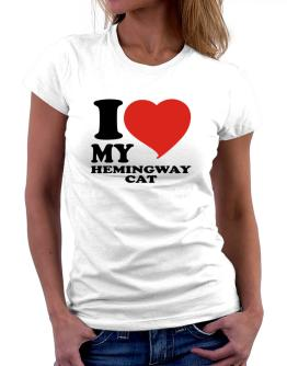 I Love My Hemingway Cat Women T-Shirt