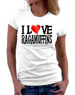I Love Ragamuffins - Scratched Heart Women T-Shirt