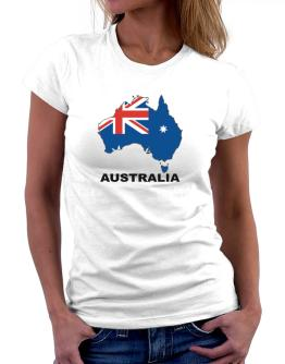 Australia - Country Map Color Women T-Shirt