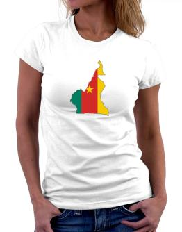 Cameroon - Country Map Color Simple Women T-Shirt