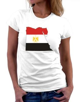 Egypt - Country Map Color Simple Women T-Shirt
