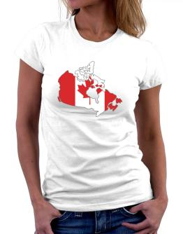Canada - Country Map Color Simple Women T-Shirt