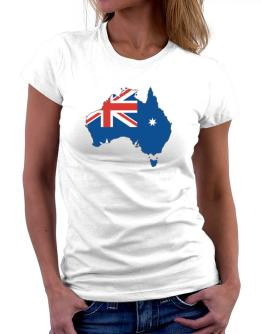 Australia - Country Map Color Simple Women T-Shirt