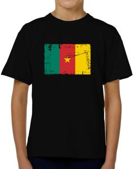 """"""" Cameroon - Vintage Flag """" T-Shirt Boys Youth"""