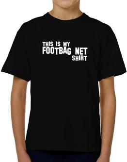 This Is My Footbag Net Shirt T-Shirt Boys Youth