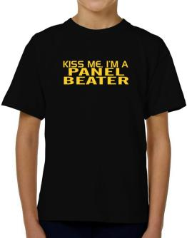 Kiss Me, I Am A Panel Beater T-Shirt Boys Youth