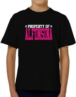 Property Of Alfonsina T-Shirt Boys Youth