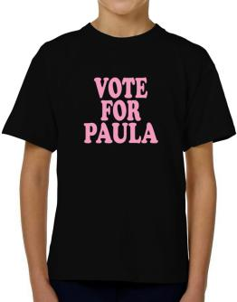 Vote For Paula T-Shirt Boys Youth
