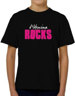 Alfonsina Rocks T-Shirt Boys Youth