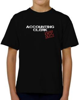 Accounting Clerk - Off Duty T-Shirt Boys Youth