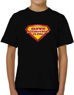Super Accounting Clerk T-Shirt Boys Youth