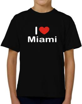 I Love Miami T-Shirt Boys Youth