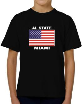 """ Miami - US Flag "" T-Shirt Boys Youth"