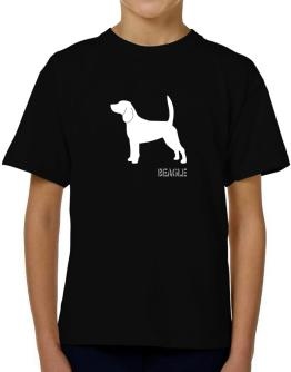 Beagle Stencil / Chees T-Shirt Boys Youth