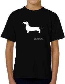 Dachshund Stencil / Chees T-Shirt Boys Youth
