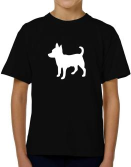 Chihuahua Silhouette Embroidery T-Shirt Boys Youth