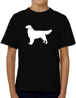 Golden Retriever Silhouette Embroidery T-Shirt Boys Youth