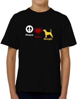 Peace, Love, Beagle T-Shirt Boys Youth