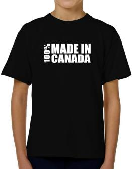 100% Made In Canada T-Shirt Boys Youth