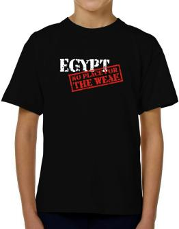Egypt No Place For The Weak T-Shirt Boys Youth