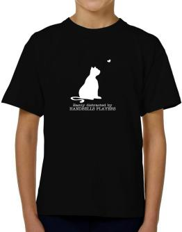 Easily Distracted By Handbells Players T-Shirt Boys Youth