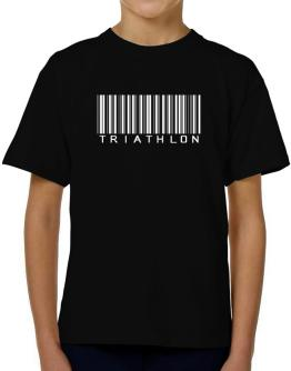 Triathlon Barcode / Bar Code T-Shirt Boys Youth