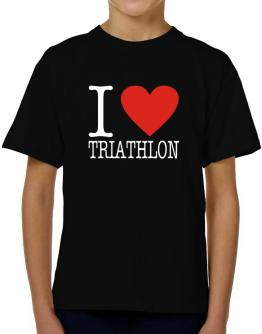 I Love Triathlon Classic T-Shirt Boys Youth