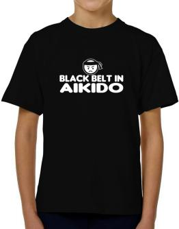 Black Belt In Aikido T-Shirt Boys Youth