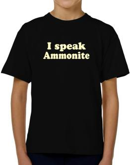 I Speak Ammonite T-Shirt Boys Youth