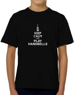 Keep calm and play Handbells - silhouette T-Shirt Boys Youth